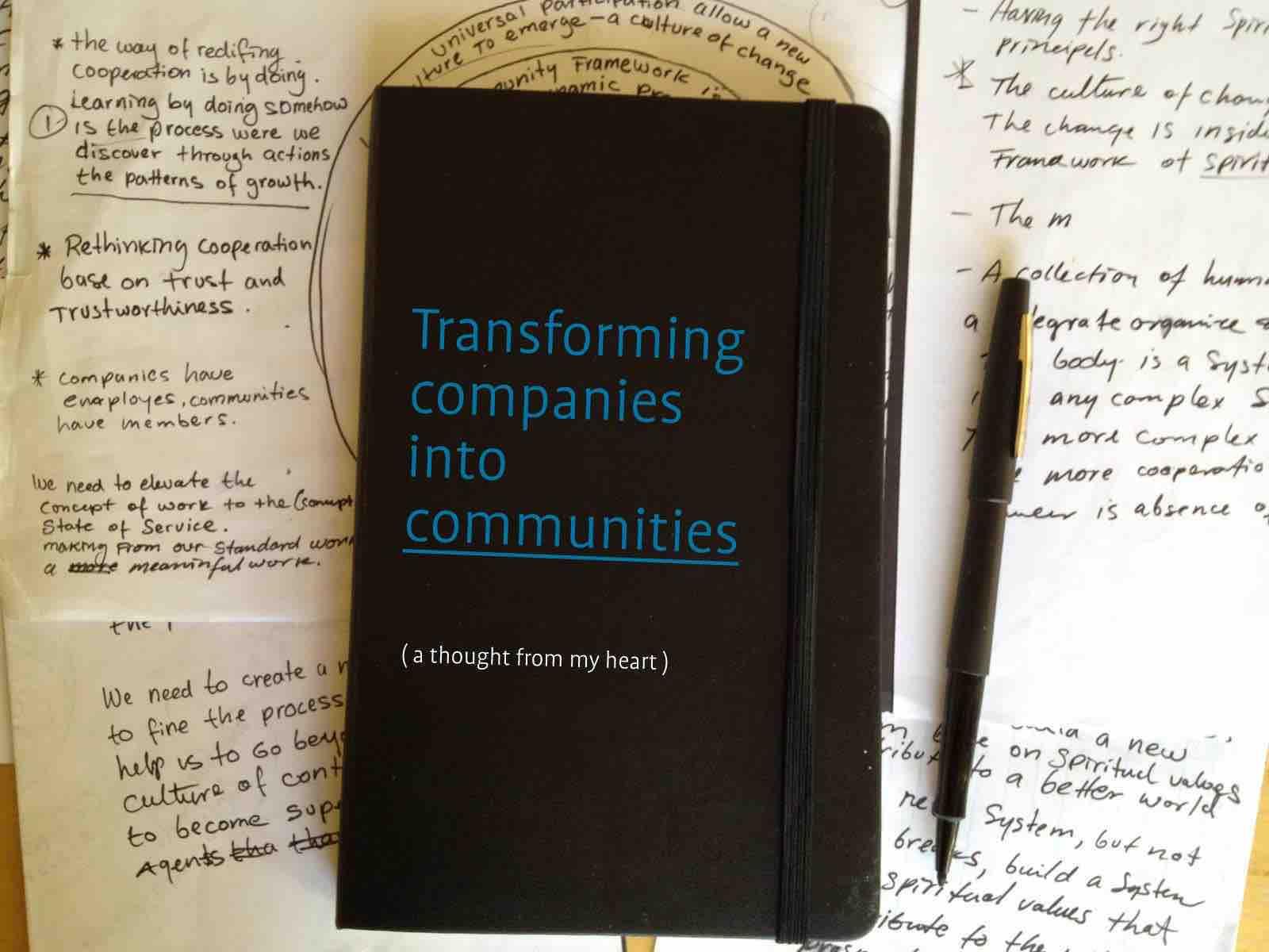 Transformando empresas en comunidades